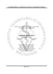 CHEMIE POTRAVIN - Veterinární a farmaceutická univerzita Brno