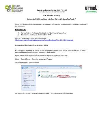 Instalando Multilingual User Interface MUI Windows ... - daruma