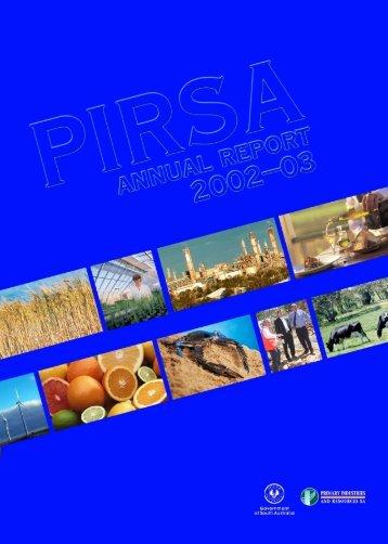 Annual Report 2002-03 (PDF 2.8 MB ) - PIRSA - SA.Gov.au