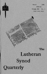 Vol. 21, No. 1 - Bethany Lutheran Theological Seminary: Mankato, MN