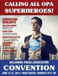2013 convention program.indd - Oklahoma Press Association