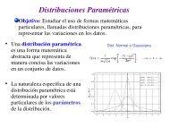 Distribuciones Paramétricas
