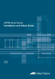 AR700 Series Router Installation and Safety Guide - Allied Telesis