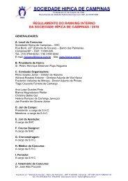 Regulamento do Departamento de Hipismo - Sociedade Hípica de ...