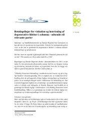 Retningslinjer for visitation og henvisning af ... - Danske Regioner