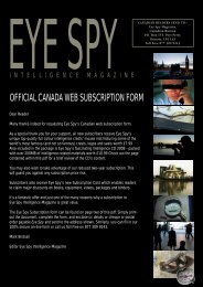 canada subscription form 2008 - Eye Spy Intelligence Magazine