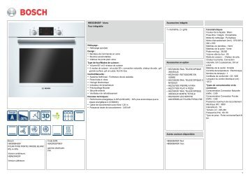 bosch hbg63b450f four pyro porte froide inox procie. Black Bedroom Furniture Sets. Home Design Ideas