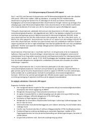 NGO´ernes kritik af regeringsrapport - Hjem