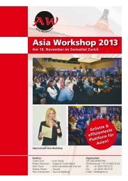 Aussteller - Booklet - Asia Workshop