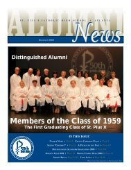 Members of the Class of 1959 - St. Pius X Catholic High School