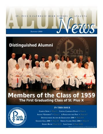Members of the Class of 1959 - St. Pius X Catholic High School
