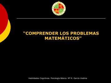 """""""COMPRENDER LOS PROBLEMAS MATEMÁTICOS"""""""