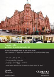 information about Paragon Hotel, Birmingham - Christie + Co ...