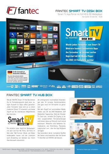 fantec smart tv disk box fantec smart tv hub box - Ingram Micro