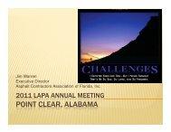 Jim Warren LAPA Annual Meeting - Louisiana Asphalt Pavement ...