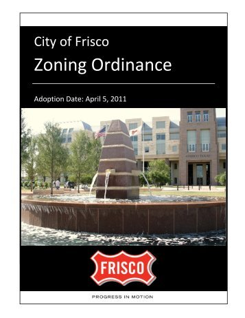 Zoning Ordinance - City of Frisco