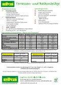 Standardprogramm Exklusivprogramm liegende ... - ELKA - Holzwerke - Seite 2