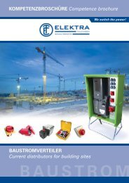 BAUSTROM BAUSTROMVERTEILER Current distributors for ...