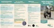 Volles Programm: Das Zoojahr - Krefelder Zoo
