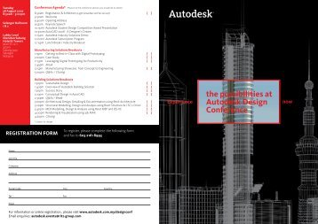 the possibilities at Autodesk Design Conference