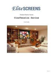 Cinetension Series - Elite Screens