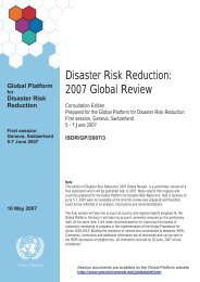 Disaster Risk Reduction: 2007 Global Review - PreventionWeb