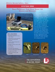 L-3 Klein System 3900 - Dual Frequency Side Scan Sonar