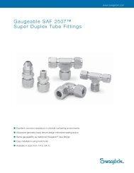 Gaugeable SAF 2507™ Super Duplex Tube Fittings - InfraCOM