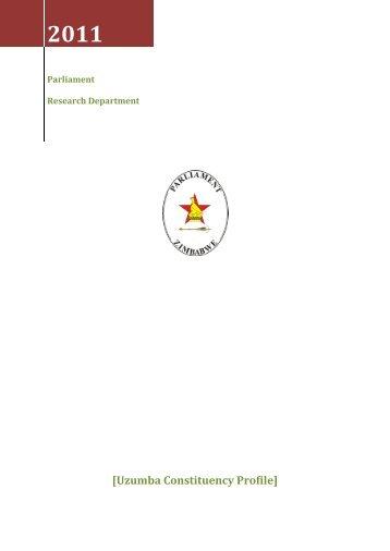 Uzumba Constituency Profile - Zimbabwe Parliament