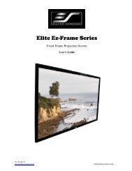 ASSEMBLING THE FRAME - Elite Screens