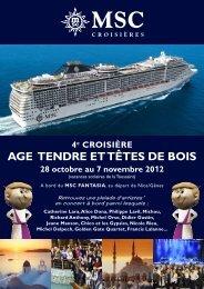 AGE TENDRE ET TÊTES DE BOIS - Delgrange Voyages