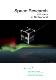 Space Research in Switzerland, 2009-2010 - Swiss Committee on ...