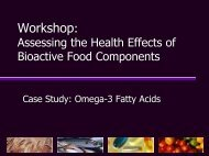 Overview Bioactive Food Components Project - Office of Dietary ...
