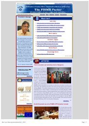 FISME Newsletter - Vol II, Issue 17: October 1, 2012 - Federation of ...