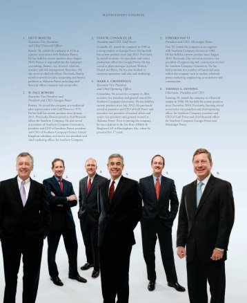 Management Council - Southern Company