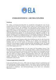 ENERGIEEFFIZIENZ - GRUNDSATZPAPIER - Interlift