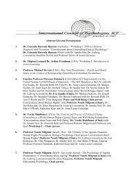 Abstract List and Presentations 1. Dr. Consuelo Barreda-Hanson ...