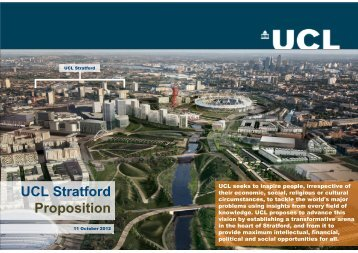 UCL Stratford Proposition