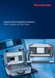 Passive Intermodulation Analyzers 2013 - T&G Elektro