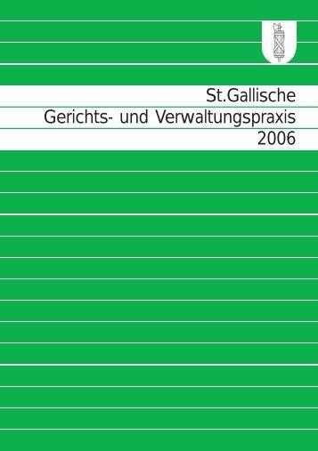 St.gallische Gerichts- und Verwaltungspraxis 2006