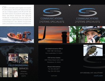 to View or Download CSS' Company Brochure - Communications ...