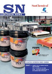 Variety of UV-Curing Screen Ink Systems - Coates Screen