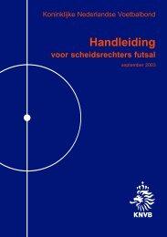 Handleiding voor scheidsrechters futsal - Spelregels