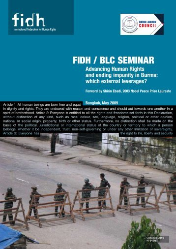 FIDH / BLC Seminar Advancing Human Rights and ending impunity