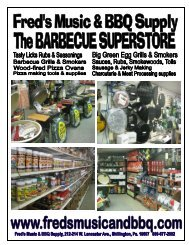store catalog master 1-17-2001 - Fred's Music and Barbecue Supply