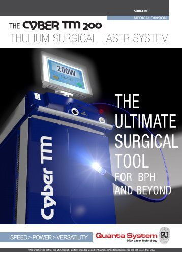 THE ULTIMATE SURGICAL TOOL - Quanta System