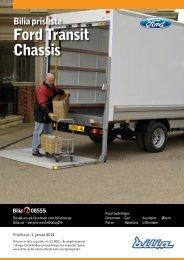 Prisliste for Ford Transit skap/chassis. - Bilia