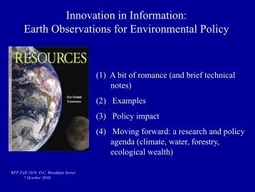 Earth Observations for Environmental Policy, Powerpoint Presentation