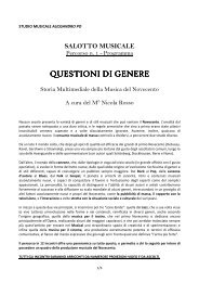 LA MUSICA DEL NOVECENTO - Studio Musicale Alessandro Po