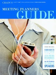 2008 Meeting Planners Guide - Crain's Chicago Business